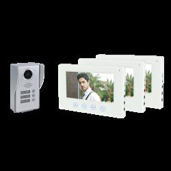 WIFI SMART VIDEO DOOR PHONE WITH THREЕ MONITORS