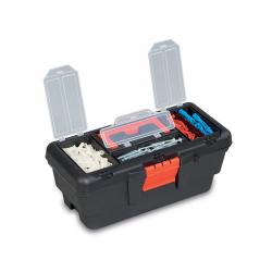 PLASTIC TOOL BOX WITH ORGANIZER 13