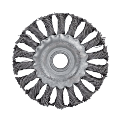TWIST KNOT WIRE WHEEL BRUSH ANGLE GRIN D100mm