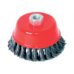TWIST KNOT WIRE CUP BRUSH ANGLE \nGRIN D100mm