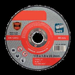 CUTTING DISC METAL A60T INOX 125x1.6x22.2mm