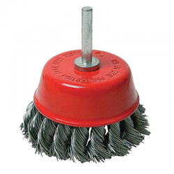 DRILL TWIST KNOT WIRE CUP BRUSH SHANK D75mm